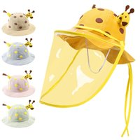 Anti Droplets Baby Hat Summer With Face Shield Mask Anti- Ch...
