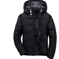 Uomo Down Felpa con cappuccio White Duck Giacca Settentrionale Parka Viaggine Ski Warm Leisure Hooded Sportswear Giacche da esterno