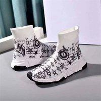 2020 New Arrivla Designer Mode Luxus für Frauen Männer Speed Trainer off-Freizeitschuhe weiß Black Flat Sneaker Socken Stiefel bequeme Schuhe