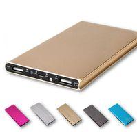 Nova-Ultra fino 12000 mah Power Bank Bateria de Segurança USB Carregador de Emergência para Carregadores de celulares Android iphone6 Samsung S6 Android