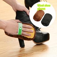 متعدد الوظائف 1PC القطيفة الناعمة مسح الأحذية والقفازات ميت فرشاة تنظيف أداة حقيبة العناية الأحذية الجلدية صوفا فرشاة العناية
