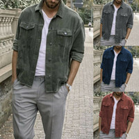 Más el tamaño de otoño invierno caliente de la capa de los hombres capa ocasional de las chaquetas de pana punk punky de la manera del estilo de las capas de alta calidad