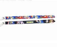 Gratuit Epacket New Cartoon Sonic Hedgehog porte-clés de téléphone de cou clés Caméra carte d'identité Longe