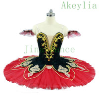 Hiszpański Professional Ballet Tutu Czarny Czerwony Dorosły Kostium Tutus Dark Green Women Professional Tutus Dzieci Pancake Tutus na konkursy