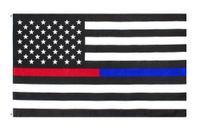 freies Verschiffen Großhandelsgabe 3x5Fts amerikanische Thin rot und blau Dual Line Flagge für Polizeibeamte Feuerwehr Responders