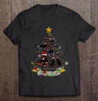 الرجال القمصان الرجال مضحك تي شيرت الأزياء الزى مرح ومشرق rottweiler شجرة عيد الميلاد المرأة تي شيرت