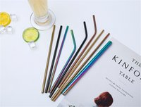Cheapest!!!Colorful Metal Stainless Steel Drinking Straws Fo...