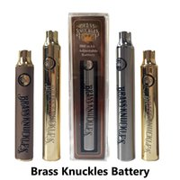 USB Şarj Kiti 650mAh Ön ısıtma Gerilim Ayarlanabilir E Sigaralar 510 Konu Yağ Kartuş Piller ile Brass Knuckles Vape Pil 900mAh
