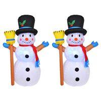 1.2M 산타 클로스 풍선 장난감 야외 크리스마스 조명 장식 마당 아치 장식
