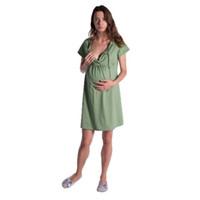 عارضة جديدة نساء الحوامل كاندي اللون فستان الصيف الصلبة ضمادة اللباس المرأة الأمومة لينة كم رايات قصير اللباس Vestidos