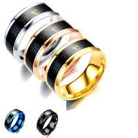 온도 모니터 링, 디지털 온도계 바디 온도 센서 스마트 반지 웨딩 커플 연인 반지, 적당한 크기의 티타늄 스틸