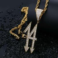 الهيب هوب القلائد 6ix9ine 14 الماس قلادة لعدد الرجال الفاخرة 14 المعلقات 18k الذهب مطلي النحاس الزركون سلسلة الكوبية والمجوهرات قلادة
