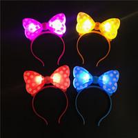 LED lumière émettant arc bandeau en épingle à cheveux bandeaux pour Concert Bar fête de Noël décorations de danse accessoires pour filles femmes VT0106