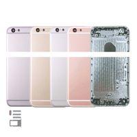 """Metal Case Arka Pil Kapağı Konut iphone 6 6G 4.7 """"Kapı Arka Kapak Konut Case Şasi Çerçeve Değiştirme Ücretsiz IMEI"""
