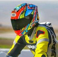 Tam Yüz X14 93 Marquez Daijiro-Motosiklet Kask Anti-Sis Vizör Adam Sürme Araba Motocross Yarış Motosiklet Kask-değil Orijinal-Kask
