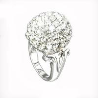 럭셔리 크리스탈 결혼 여성을위한 결혼 반지 - 다이아몬드 약혼 반지 멀티 라인 석 군중 결혼 반지 실버 색상 RN-575