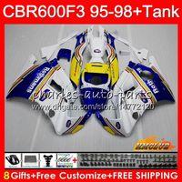 Body + Serbatoio per Honda CBR 600F3 600cc CBR600 F3 95 96 Rothmans Blu 97 98 41HC.10 CBR 600 FS F3 CBR600FS CBR600F3 1995 1996 1997 1998 carenatura