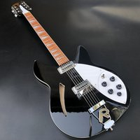 12 cuerdas Ricken 360 guitarra eléctrica, cuerpo de tilo Diapasón de caoba con brillo barniz, pintura negro, envío libre