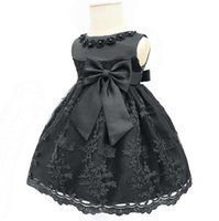 Black Dresses for Baby Gilr Sleeveless Flower Bow Decoration...