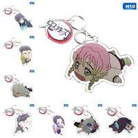 Anime Demon Slayer Kimetsu No Yaiba Keychain Kamado Tanjirou Nezuko Agatsuma Zenitsu Rengoku Kyoujurou Cute Acrylic Gift