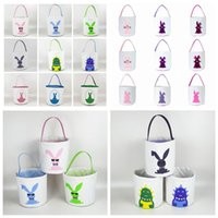 Easter Rabbit Basket Easter Bunny Bucket Sequins Egg Candies...