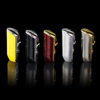Coaba a colori giallo metallo 3 torcia jet flame sigaro sigaretta per sigaretta con punzonatrice è ricaricabile
