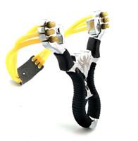 강력한 슬링 샷 고무 밴드 합금 손목 slingshot 야외 위장 낚시 장난감을위한 사냥 도구
