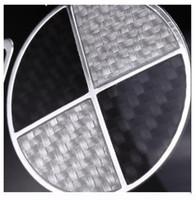 Yüksek Kaliteli 3D Karbon Fiber Siyah Beyaz Araba Motor Amblem Ön Arka Rozetleri 73mm 82mm Için 3 5 7 X1 X3 X5