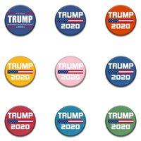 남성 여성 HHA1352N 2020 도널드 트럼프 배지 미국 대통령 선거 Broochs 미국 깃발 새 스타일 트럼프 배지