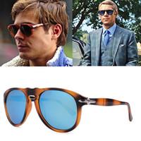 de lujo piloto Steve estilo gafas de sol polarizadas de la vendimia de los hombres clásicos de conducción diseño de marca de los vidrios de Sun Gafas de Sol 649