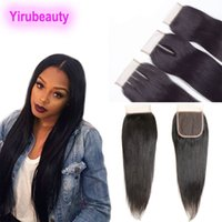 Indian Unprocessed Human Hair 4X4 Lace Closure Straight Hair...
