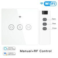 Tuya vie intelligente UE RF WiFi volet roulant électrique Rideau Interrupteur motorisé Stores avec télécommande Google Accueil Aelxa Echo