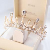 Высший Сорт Принцесса Золото Серебро Кристаллы Диадемы Короны Свадебные Диадемы Аксессуары Свадебные Диадемы/Короны T308827