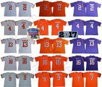 NCAA Clemson Tigers College Mens #2 Келли Брайант 4 Дешон Уотсон 9 Трэвис Этьен младший 13 Хантер Ренфроу 16 Тревор Лоуренс Футбольная майка