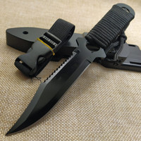 Taktik Sabit Bıçak 7CR14Mov Bıçak Çelik Kol Açık Kamp Survival Av Utility Bıçak Askeri Cep Aracı + ABS Kılıf
