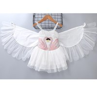 Girls Swan Wings dresses 2- 9T Removable Lace Wings Embroider...