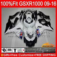 Injection Pour SUZUKI GSXR1000 2009 2010 2011 2012 2012 2015 2016 16HC.3 stock blanc nouveau GSXR-1000 K9 GSXR 1000 09 10 11 12 13 15 16 Carénage