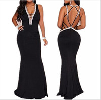 2019 European and American Foreign Trade Express Summer New Sexy Hollow-out Dress Dresses with Pure Colors