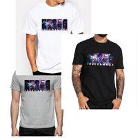 Nova chegada Jogo de alta qualidade LOL TURE DAMAG equipe dos desenhos animados T-shirt da forma e casual O-pescoço manga curta algodão tshirt para o homem DHBOMC188