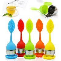 silicon tea infuser Leaf Silicone Infuser with Food Grade make tea bag filter creative Stainless Steel Tea Strainers