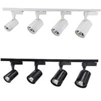 COB 12W 20W 30W de Rail d'éclairage LED aluminium plafond éclairage Rail Track spot rail Spotlights Remplacer lampes halogènes AC85-265