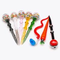 Snake Eye Pokeball Glass Dabber Wachs DAB-Werkzeuge CARB CAP FÜR Raucher Quarz Banger Bongs Accessoires Tool