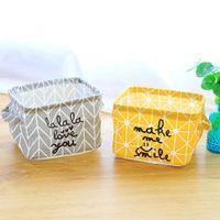 Hot faltbarer Aufbewahrungsboxen Organizer Kosmetik-Buch-Spielzeug Organizer Wäschekorb Desktop Storage Basket Bin Closet Taschen Container