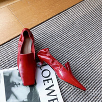 High- End Handmade WOMEN' S Shoes Pull Wrinkle Retro Low ...