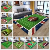 Rugby Field 3D Printing Carpets for Living room Bedroom Area...