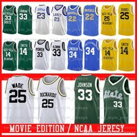 Michigan State Spartans # 33 Earvin Johnson POWER MEMORIAL LEW Alcindor Bel-Air Academy Film Jersey Lincoln POWER MEMORIAL LEW Alcindor Z5