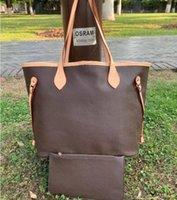 2pcs / set Kadınlar Deri Soho Çanta Disko Omuz Çantası Çanta bayan Totes cüzdan lu957 ile çanta Moda kadın çantası handbags