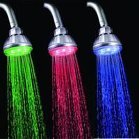 Fun 7 Farben-Änderungs-LED-Licht-Sensor Temperatur Duschkopf Spray Wasser-Hahn-Badezimmer-Produkte