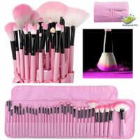 الأزياء 32 قطع فرش ماكياج مجموعة الوردي الجمال أنيق مستحضرات التجميل الحاجب الظل مسحوق بنسل المكياج maquiagem أدوات + الحقيبة حقيبة