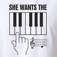 Funny Rude Music T- shirt She Wants The D piano sheet music n...